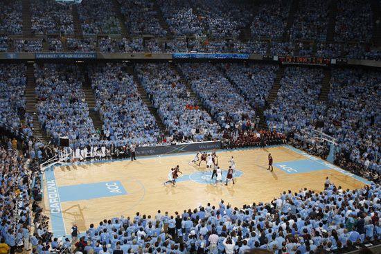 Dean Smith Center North Carolina Tar Heels Basketball North Carolina Tar Heels Unc Chapel Hill