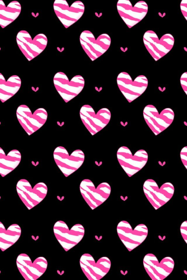 iPhone love wallpaper Pink Hearts crocheting & craft ...