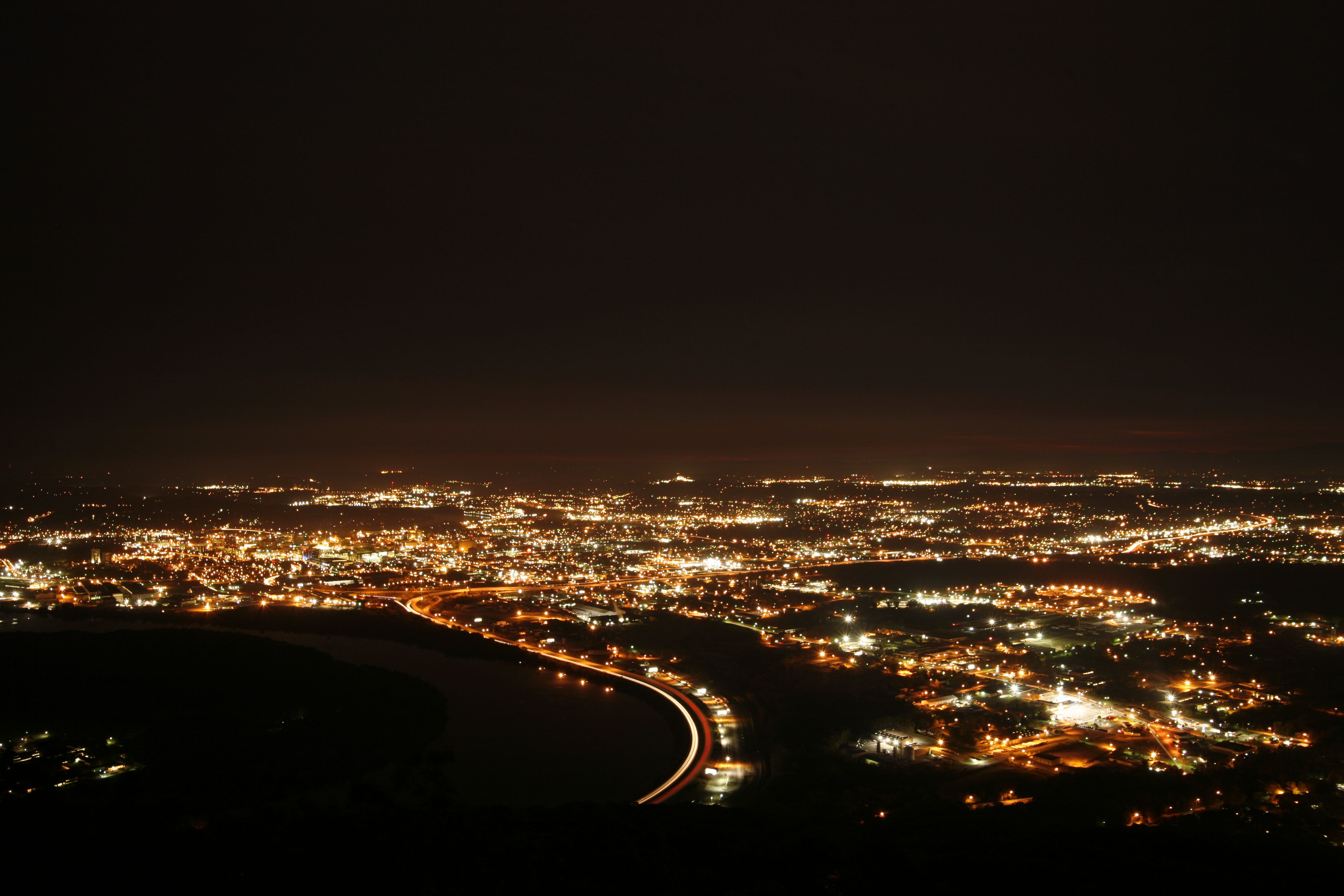 Our City At Night Chattanooga Tn