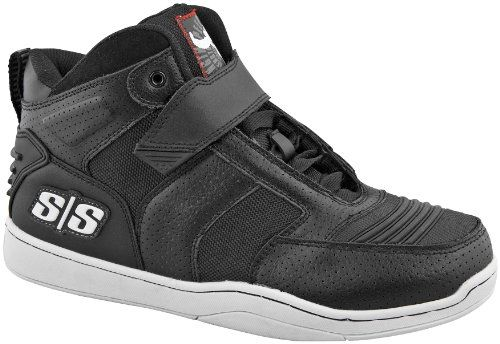 Speed and Strength Run With the Bulls 2.0 Mens Moto Leather Shoes Black, Size 12