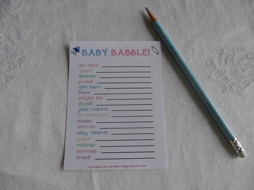 free printable bridal shower games and activities%0A Free printable baby shower game    Baby Babble
