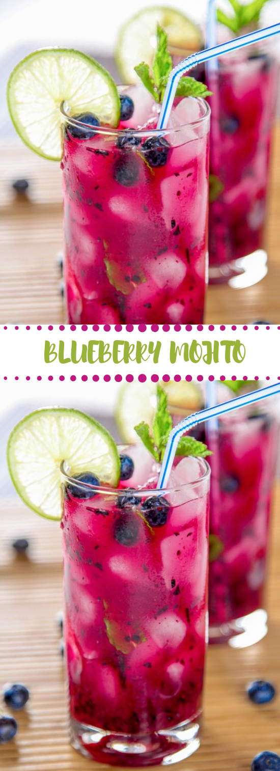 BLUEBERRY MOJITO #mojito #drink #fres #delicious #cocktail