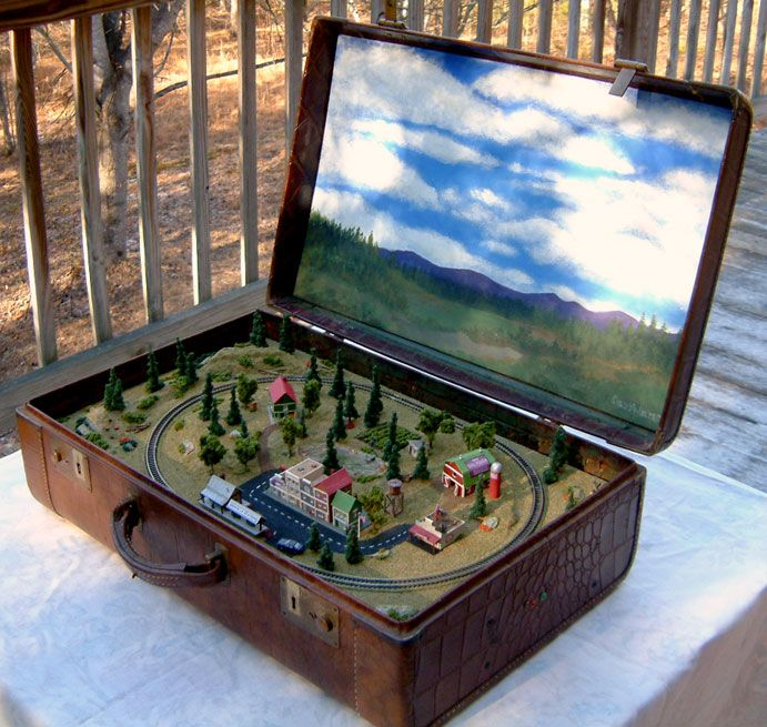 Coffee Table Z Scale Train Sets 9