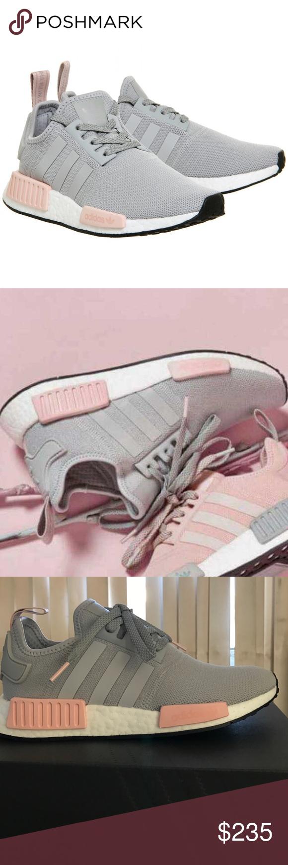 Adidas NMD R1 W Vapour Pink Pink Vapour Light Onix Grau New in box Größe 8 Damens 5296eb