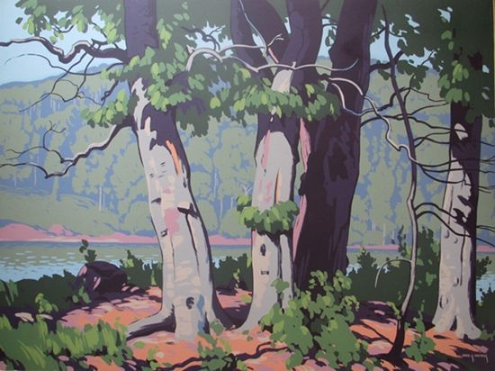Fred Haines, Beech Woods, circa 1943, 30 X 40 inches.