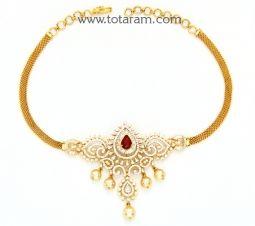 18K Diamond Necklace Sets Diamond choker necklace Indian gold