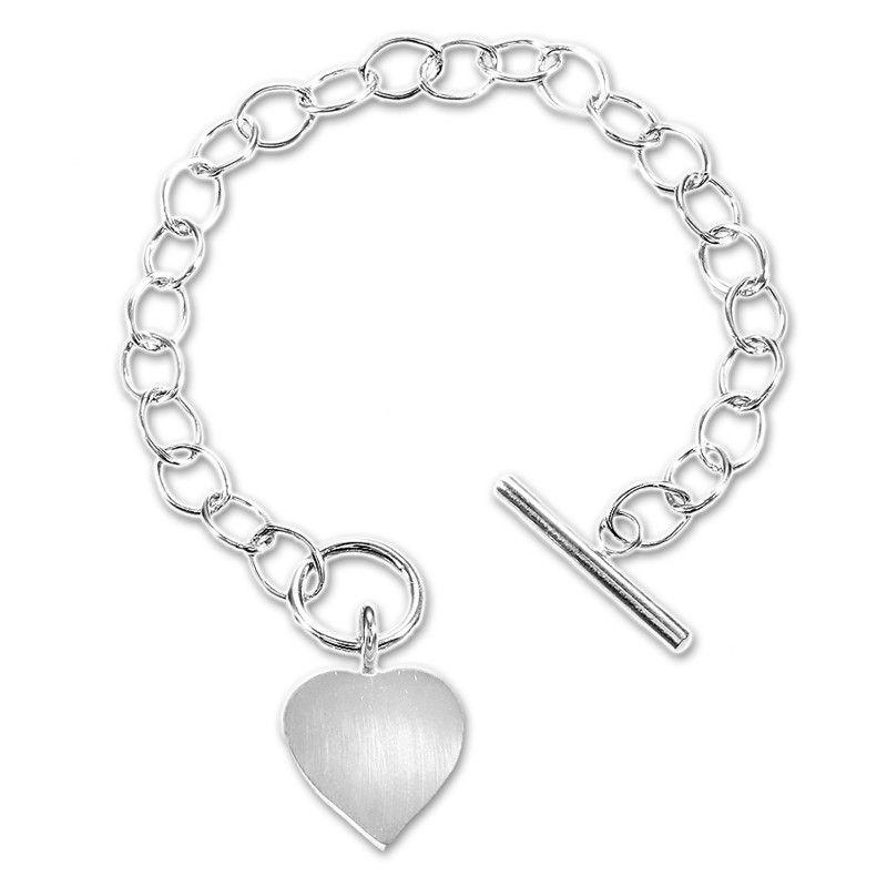 Sterling Silver Link Heart Bracelet By Tiffany S