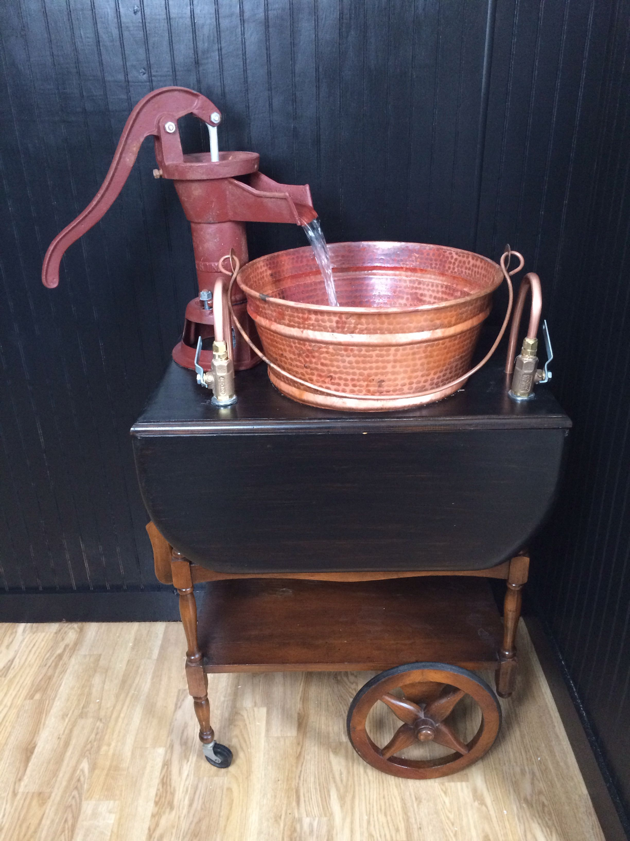 My Rustic Sink Hand Water Pump Copper Tubing Brass Valves An