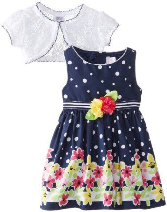 a1d2efcf4411 Youngland Baby-Girls Infant Floral Dot Dress Price: $26.99 You Save: $31.01  •