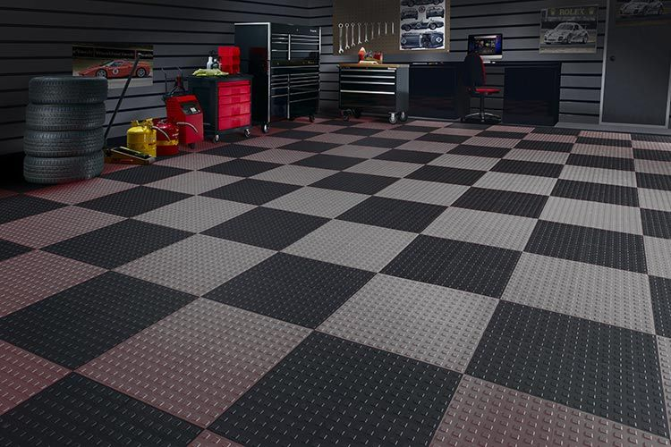 Tech Up Your Floors Garage Floor Tiles Garage Floor Garage Flooring Options