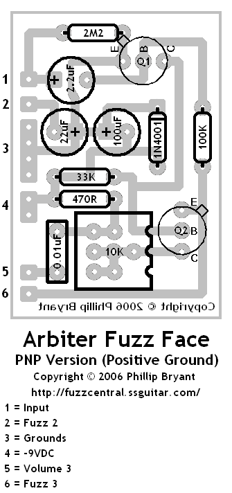 fuzz face layout