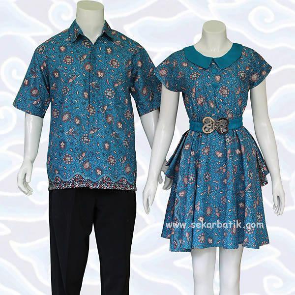 Batik Kerja Couple Terbaru: Batik Sarimbit Couple Toska 77 Koleksi Terbaru Toko Batik