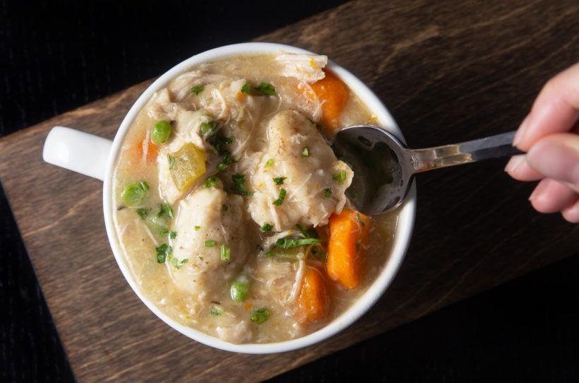 instant pot chicken  dumplings  testedamy  jacky
