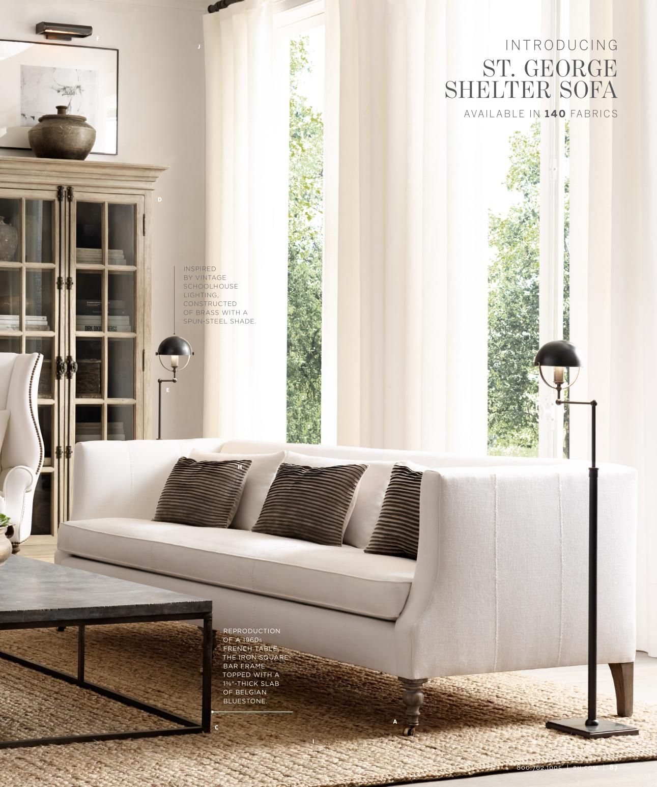 Restoration hardware decor for the home in 2019 living - Restoration hardware living room ideas ...
