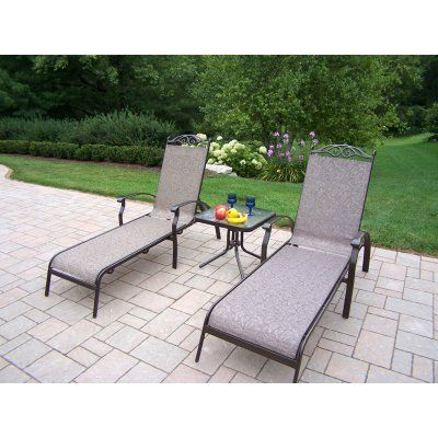 Outdoor Oakland Living Cascade Sling Chaise Lounge Set   10605 L 3 CF