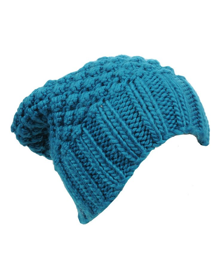Crochet Knitted Beanie - would probably look quite nice with my hair colour
