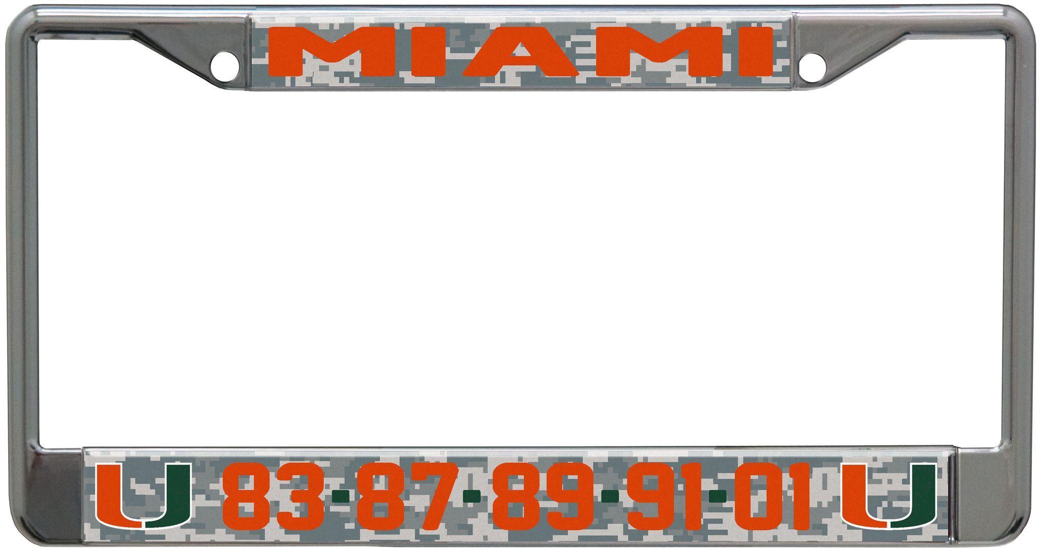 Miami Hurricanes Championship Years License Plate Frame - Digi Camo ...