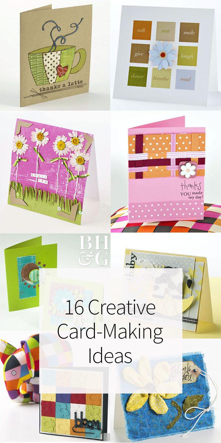 Ordinary 16 Creative Card Making Ideas Part - 11: 16 Creative Card-Making Ideas