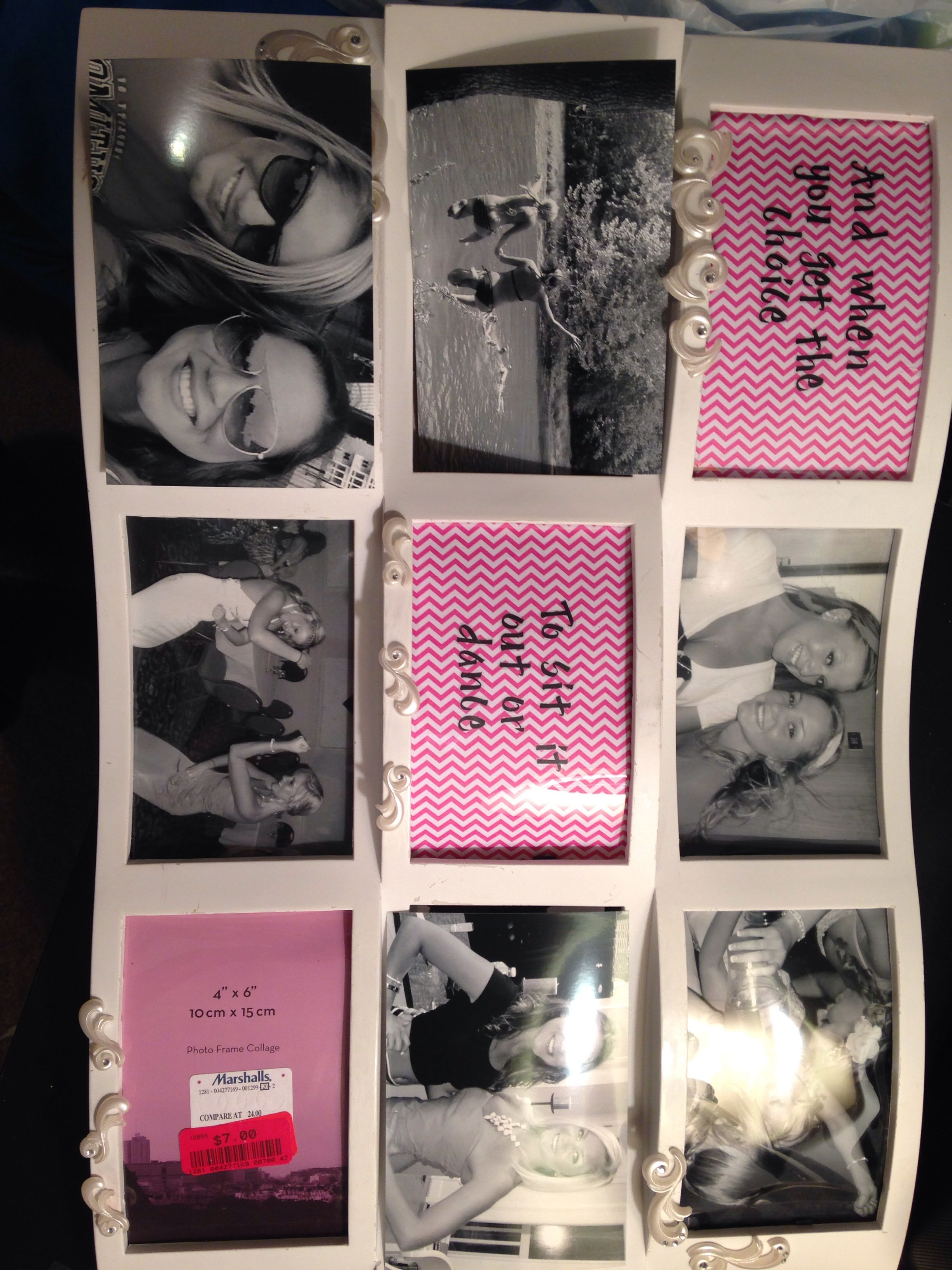 DIY picture frame collage graduation t to my best friend