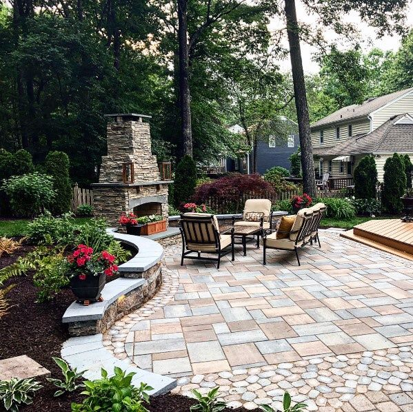 Top 60 Best Paver Patio Ideas Backyard Dreamscape Designs Patio Garden Design Pavers Backyard Backyard Patio Designs