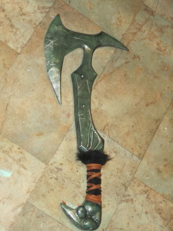 This Is A Tutorial On How To Make A Daedric War Axe Out Of Foam