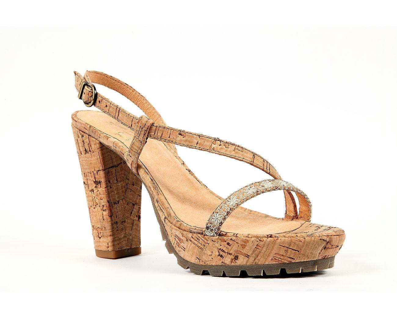 "Strap Sandal ""Estrela do Mar""   Natural  by rutz   walk in cork"
