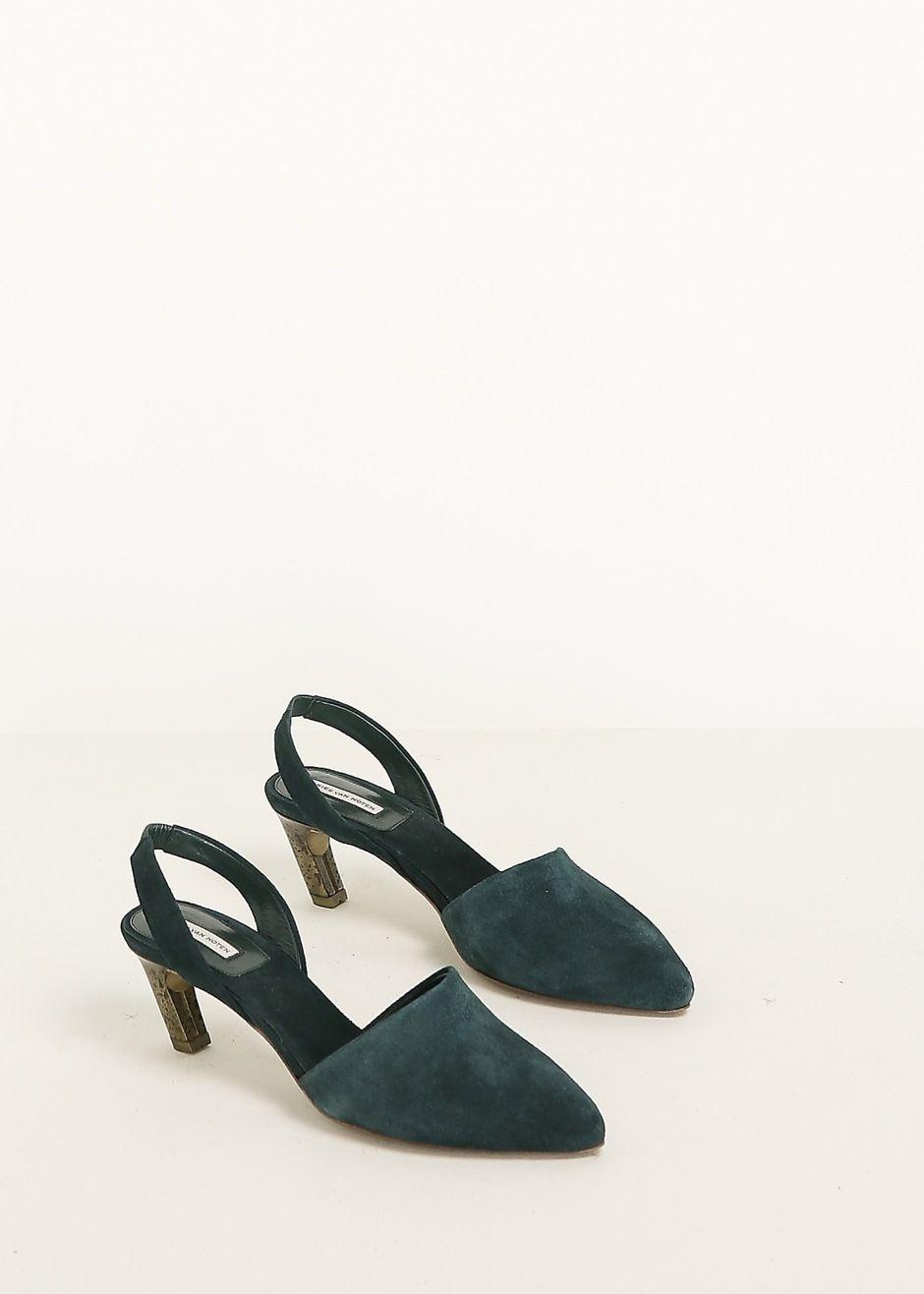 82fa85bc42 Shoes High Heels · Dries Van Noten Suede Pump (Petrol)