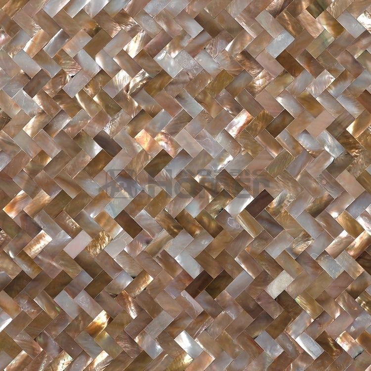 Natural Sea Shell Penguin Shell Seamless Mosaic Tiles Mesh Backing 10x20mm Kitchen Backsplash Tile Mesh Mosaic Wall Tiles Wall Tiles
