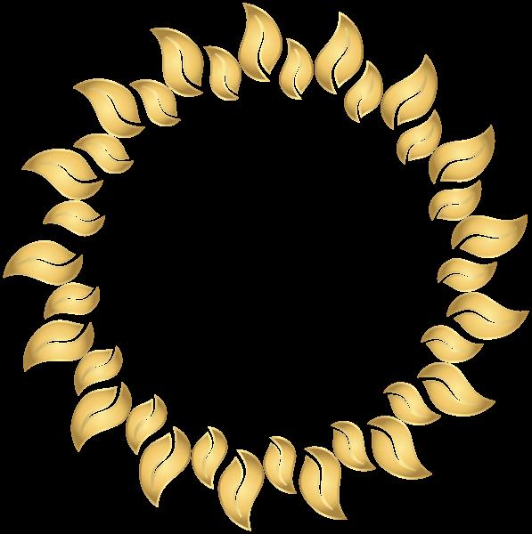 اطارات للصور باللون الذهبي بدون تحميل سكرابز إطارات ذهبية بخلفية شفافة دو Floral Border Design Frame Border Design Circle Frames Clipart