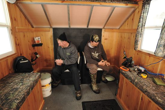 Tricked Out Ice Houses | In-Fisherman | Ice ... on simple small house floor plans, 6x10 ice fishing house, morton building home floor plans, metal building homes floor plans,