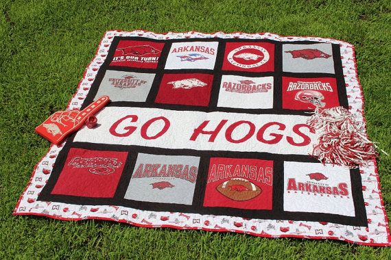 Hey, I found this really awesome Etsy listing at https://www.etsy.com/listing/240091674/arkansas-razorback-quilt