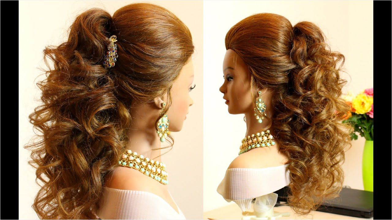 Curly Bridal Hairstyle for Long Hair Beautiful Curly Wedding