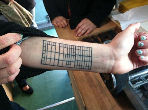 a printer\'s job case | booknerd tattoos | Tattoo printer, Hand ...