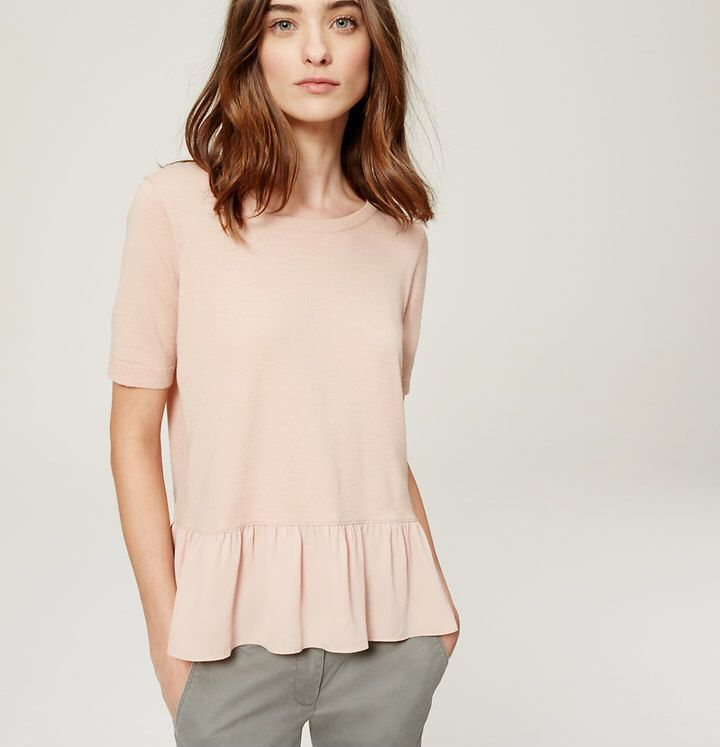 blush peplum sweater