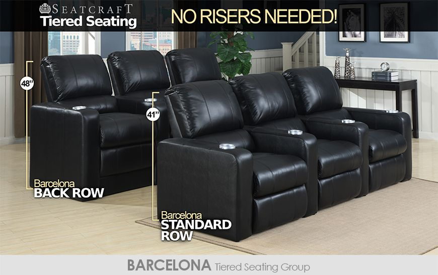 Seatcraft Tiered Home Theater Seating Without Risers