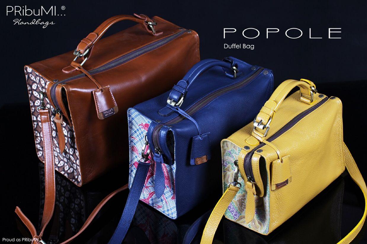 POPOLE Duffel Bag — For more information or inquiry, please contact via : WA : 082213355211 LINE : @pribumi Email : order@pribumi.co.id www.pribumi.co.id