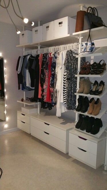 ikea wardrobe stolmen beauty room pinterest schrank kleiderschrank och begehbarer. Black Bedroom Furniture Sets. Home Design Ideas