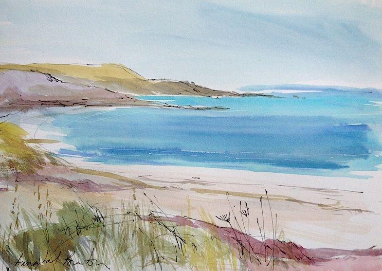 Seaside Watercolour Seaside Paintings Beach Watercolor
