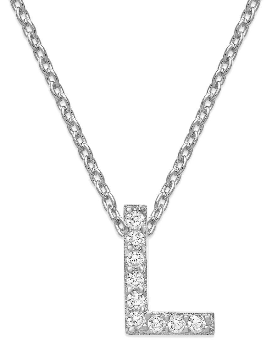 Studio silver cubic zirconia initial pendant necklace products studio silver cubic zirconia initial pendant necklace aloadofball Choice Image