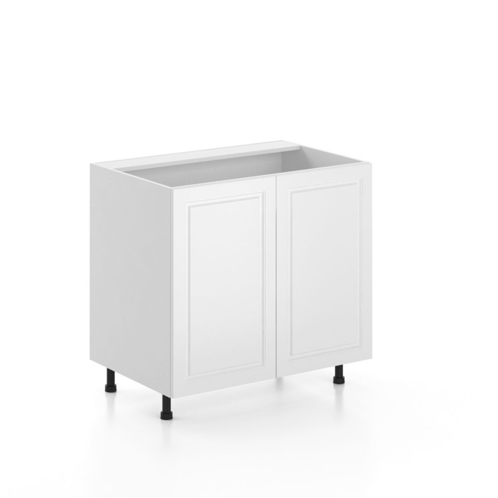 Florence Assembled 36 Inch Sink Base Cabinet Thermofoil Cabinets Cabinet Base Cabinets