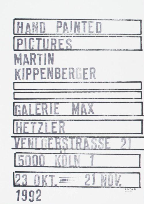 Estate martin kippenberger galerie gisela capitain for Grafikdesign koln