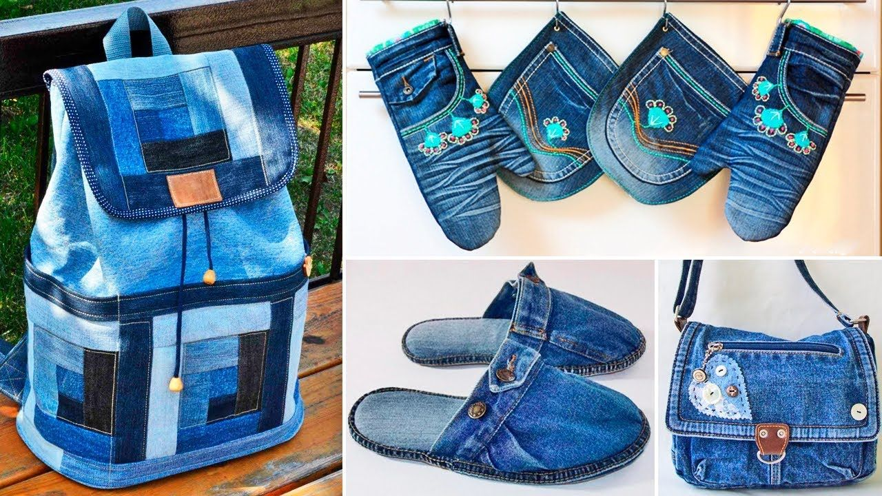 120 Ideas That Can Be Made From Old Jeans Youtube