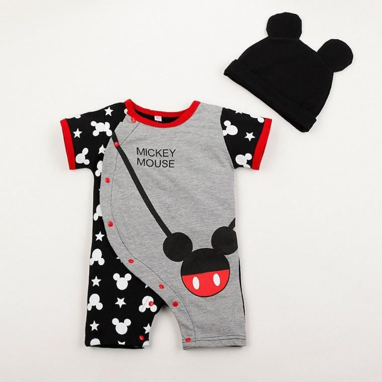 Baby Rompers - Mickey And Minnie Mouse Romper + Hat c1194e3e703c