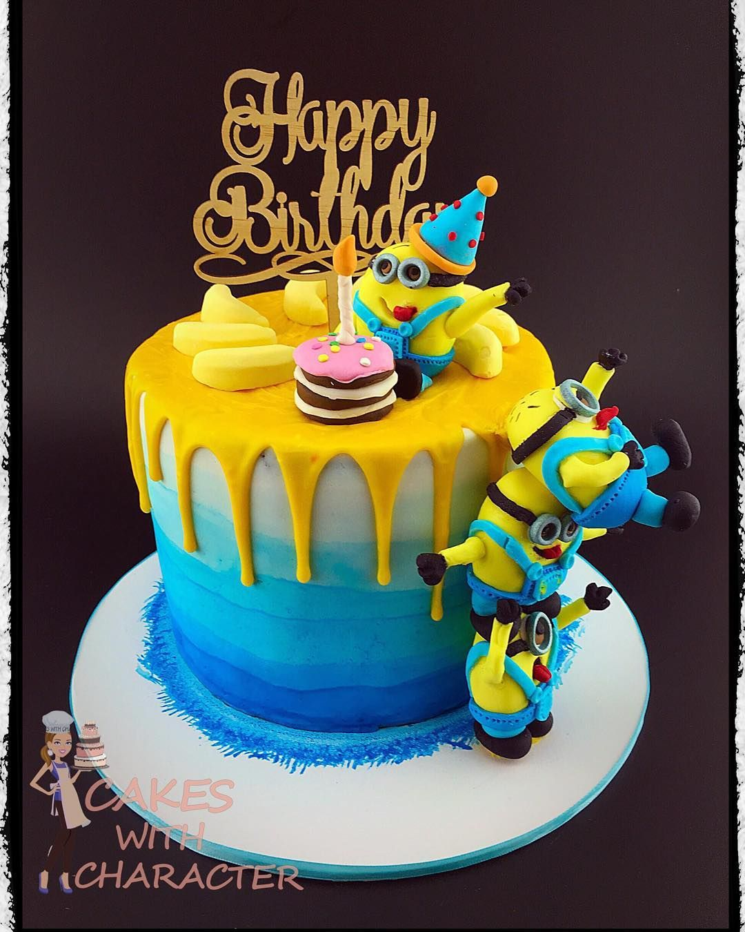 Remarkable Minion Drip Cake Cakes With Character With Images Minion Funny Birthday Cards Online Inifodamsfinfo