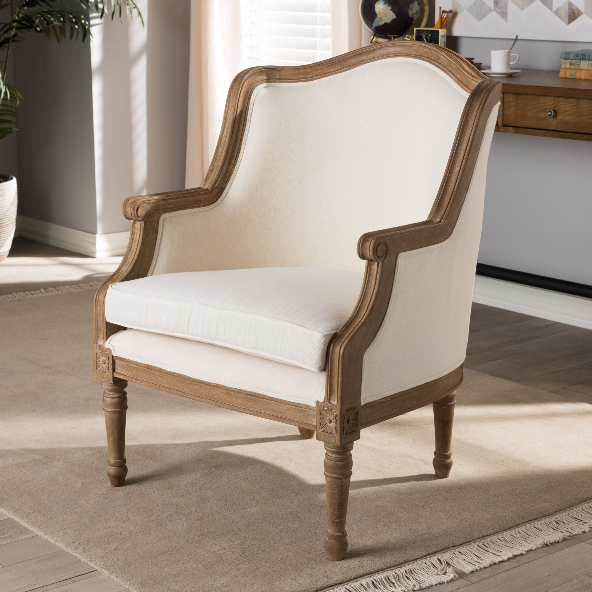 Tremendous Baxton Studio Charlemagne Traditional French Accent Chair Pabps2019 Chair Design Images Pabps2019Com