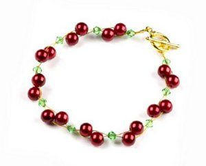 Cherries bracelet - Pulsera, imitación cerezas #IDEA #INSPIRATION