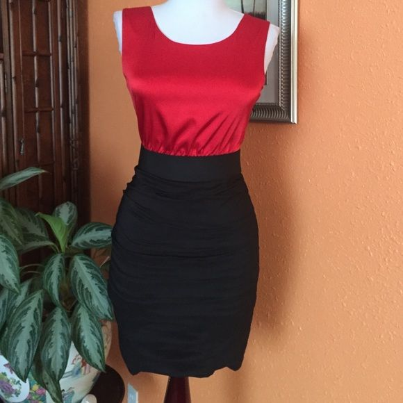 Express red and black dress Nice summer dress Express Dresses Mini