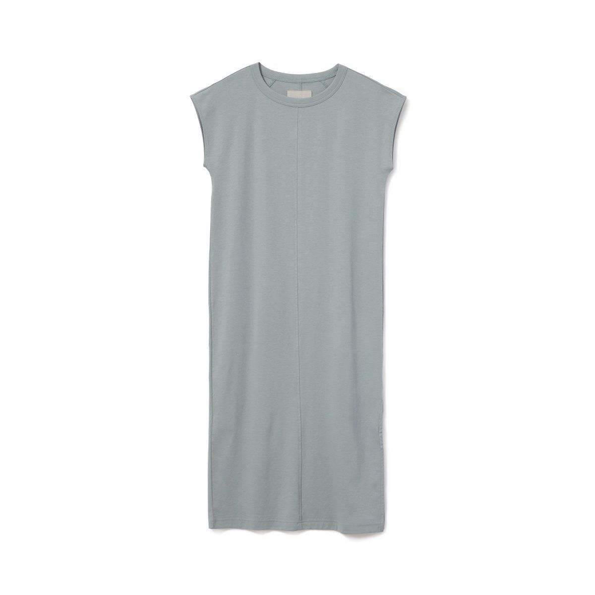 e7c697b7b3a39b Women's Luxe Cotton Side-Slit Tee Dress by Everlane in Faded Sage ...