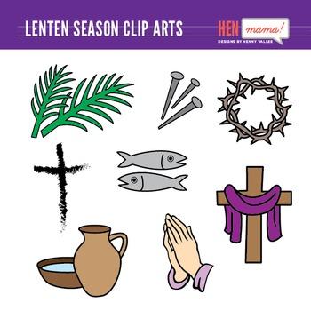 Lenten Season Clip Art Set Lenten Season Lent Symbols Liturgical Colours