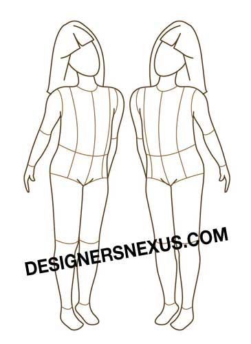 textiles body templates - children fashion figure free download possibly to use